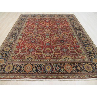 EORC Hand Knotted Wool Red Sultanabad Rug (8' x 10')