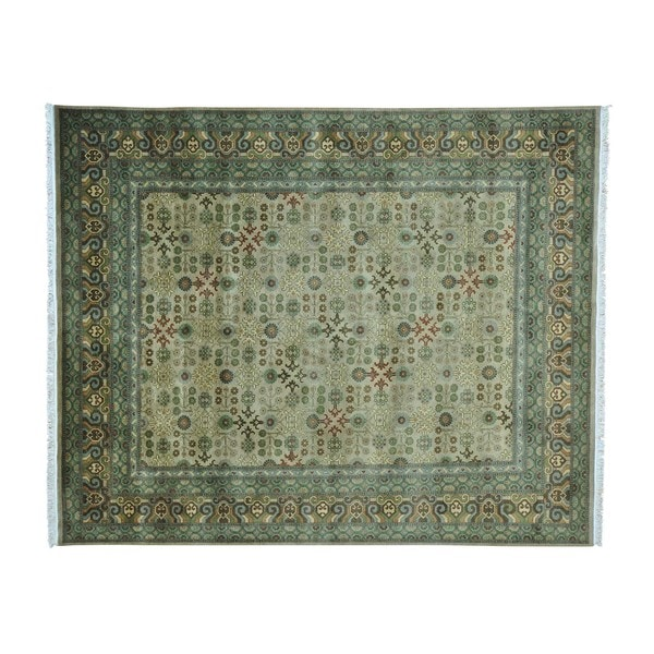 Shop Samarkand With Pomegranate Design Hand Knotted Oriental Rug 8