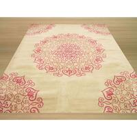 Hand-tufted Wool Ivory Transitional Floral Modern Naiin Rug (8'9 x 11'9)