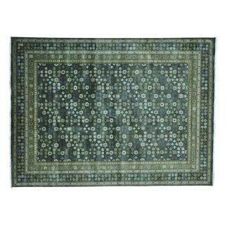 Khotan Design Pure Wool Hand Knotted Oriental Rug (9'1 x 12'4)