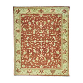 Hand Knotted Oushak Pure Wool Oriental Rug (9'6 x 11'10)