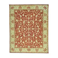 Hand Knotted Oushak Pure Wool Oriental Rug