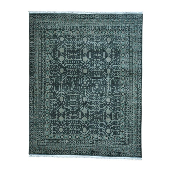Pure Wool Samarkand With Pomegranate Design Oriental Rug (8' x 10'1)