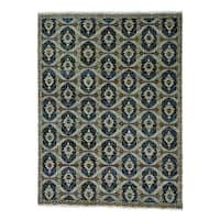 Hand Knotted Ikat 100 Percent Wool Oriental Rug - 9' x 12'