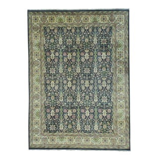 Thick And Plush Hand Knotted Pure Wool Rajasthan Rug (8'7 x 11'8)