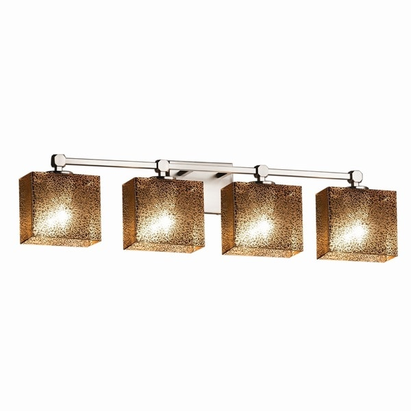 Mercury Glass Vanity Light Shade : Justice Design Group Fusion Tetra 4-light Nickel Bath Bar - Mercury Glass - Free Shipping Today ...