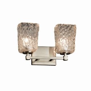Justice Design Group Veneto Luce Tetra 2-light Nickel Bath Bar - Clear Shade