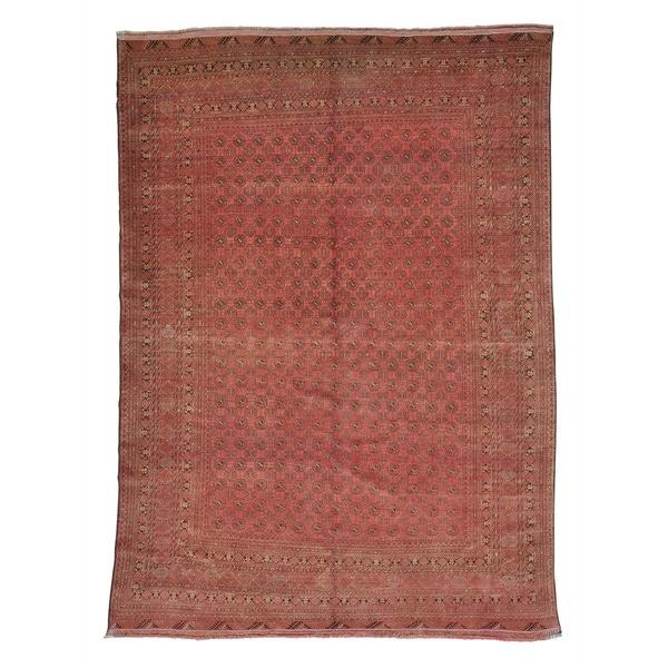 Antique Afghan Kunduz Bokhara Full Pile Oriental Rug