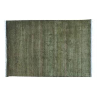 Grass Design 100 Percent Wool Handmade Modern Gabbeh Rug (6' x 9')