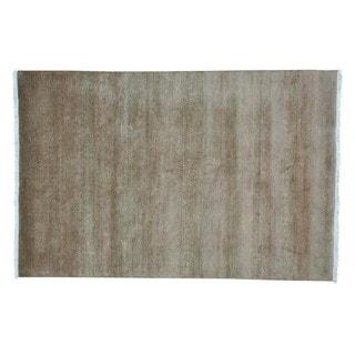 Modern Gabbeh Handmade Grass Design Pure Wool Oriental Rug (6' x 9')