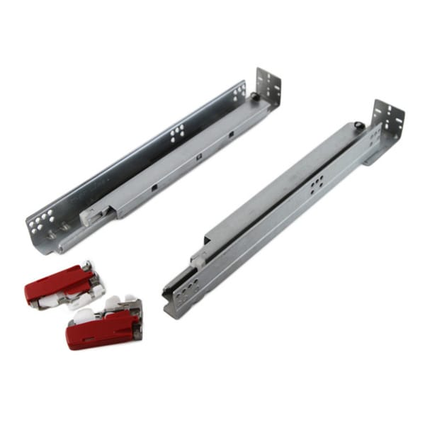 Framed Hydraulic Soft Close Concealed Undermount 15 3/8 Inch Full Extension Drawer Slides (Set of 1 Pair)