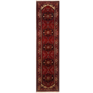 Herat Oriental Indo Hand-knotted Serapi Red/ Ivory Wool Runner (2'7 x 12'4)