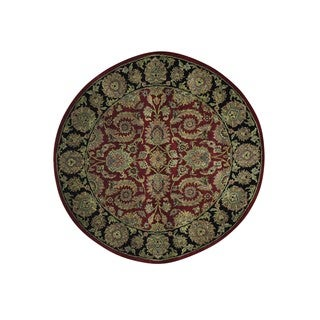 Round Pure Wool Rajasthan Hand Knotted Oriental Rug (5'1 x 5'2)