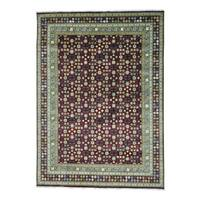 Flower Design Khotan Pure Wool Hand Knotted Rug (9' x 12'6)
