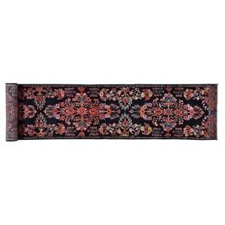 Pure Wool XL Runner Semi Antique Persian Bibikabad Rug (2'10 x 17'3)