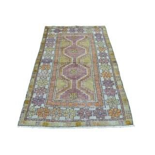 Semi Antique Khotan Design Even Wear Handmade Oriental Rug (2'9 x 5')