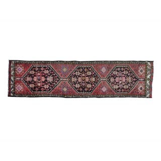 Runner Semi Antique Persian Mosel Hand Knotted Oriental (2'4 x 9'2)