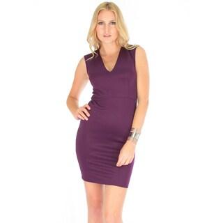 Lyss Loo Women's V-Neck Bodycon Dress