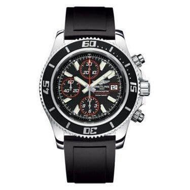 Breitling Men's A13341A8-BA81RU 'Superocean' Chronograph Automatic Black Rubber Watch