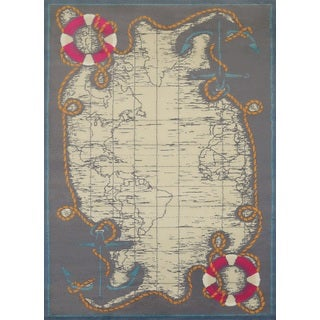 Islander Tropical Map Accent Rug (2'7 x 3'11)