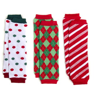Children's Christmas Leg Warmers (Set of 3)