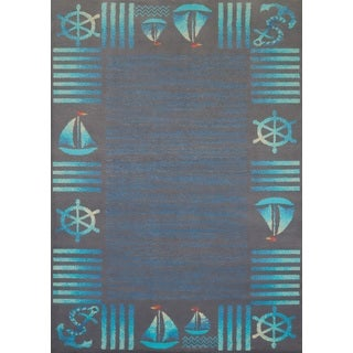 Islander Sailors Border Accent Rug (1'10 x 3')