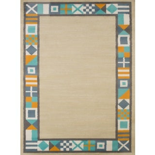 Islander Tropical Border Accent Rug (1'10 x 3')