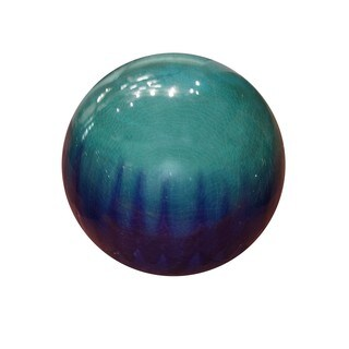 10-inch Blue Ceramic Gazing Globe