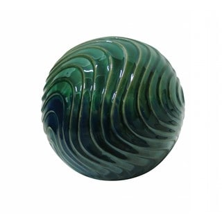 10-inch Multi-Color Waves Ceramic Gazing Globe