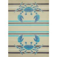 Islander Twin Crabs Area Rug - 5'3 x 7'2