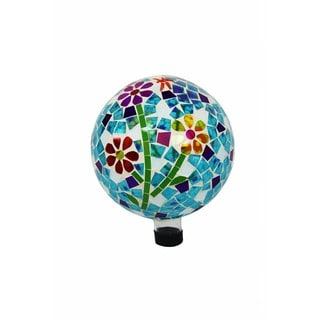 10-inch Gazing Globe with Flowers