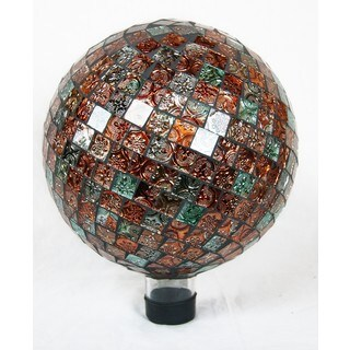 10-inch Multicolor Tile Gazing Globe