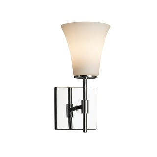 Justice Design Group Fusion Union Tall Chrome Wall Sconce