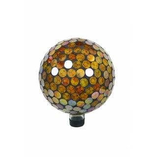 10-inch Yellow Circles Gazing Globe