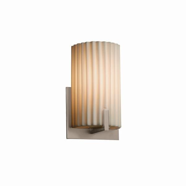 Shop Justice Design Group Porcelina Century 1 Light Brushed Nickel