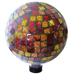 10-inch Red and Gold Gazing Globe