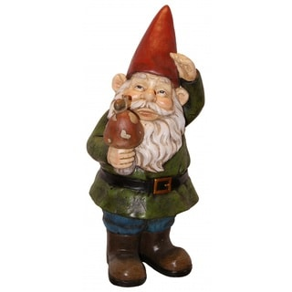 12-inch Gnome with Mushroom Statuary