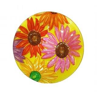 18-inch Flowers Birdbath