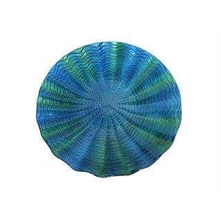 18-inch Blue/Green Birdbath