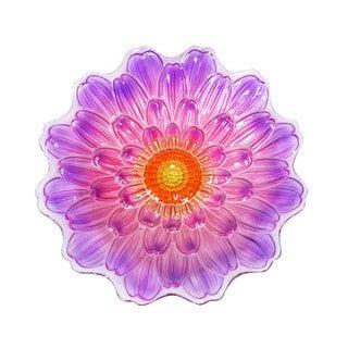 18-inch Purple Flower Birdbath