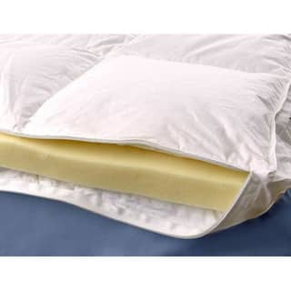 Down Alternative Gusseted Design Euro Top Cover for Memory Foam Topper|https://ak1.ostkcdn.com/images/products/1168947/P1016039.jpg?impolicy=medium