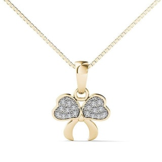10k Yellow Gold Diamond Accent Fashion Pendant Necklace