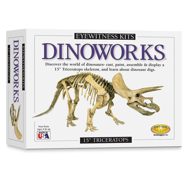 Eyewitness Dinoworks Triceratops Skeleton Casting Kit