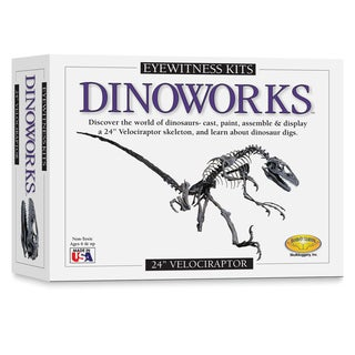 Eyewitness Dinoworks Velociraptor Skeleton Casting Kit