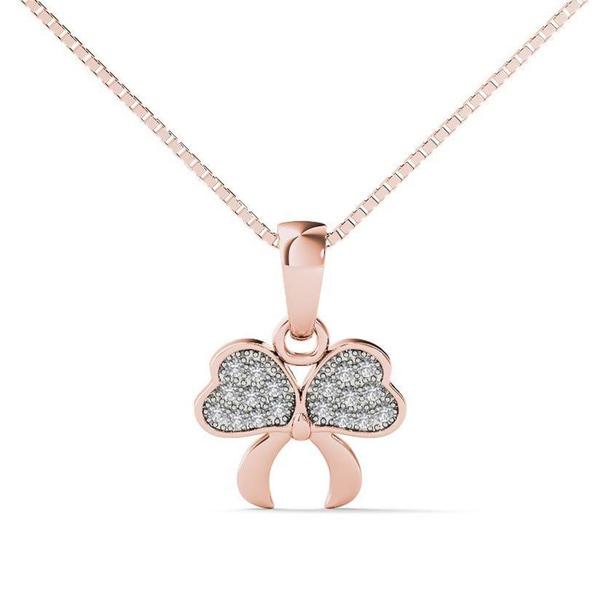 5b31d8477d7616 Shop 10k Rose Gold Diamond Accent Fashion Pendant Necklace - On Sale ...