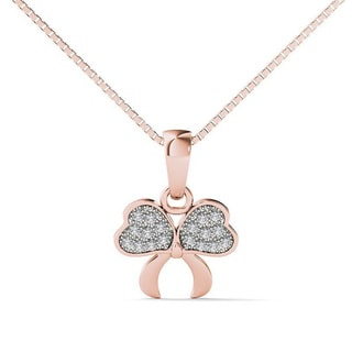 10k Rose Gold Diamond Accent Fashion Pendant Necklace