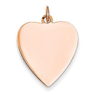 Versil 14k Rose Gold Heart Disc Charm