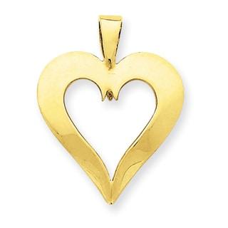 Versil 14k Yellow Gold Heart Charm