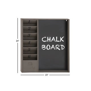 Metal Chalkboard Memo Wall Rack