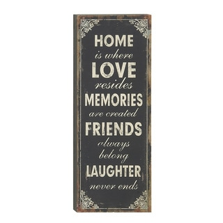 "Wood ""Home is Where Love Resides"" Wall Sign"
